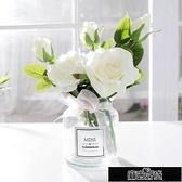 假花仿真花北歐裝飾花束擺件小清新餐桌花擺設客廳塑料玫【雙十一狂歡】