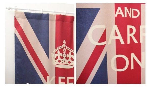 ☆歡樂寶貝商城☆C0047 大不列顛-英文字80*140 CM 個性特色窗簾/ 遮光簾 可訂做