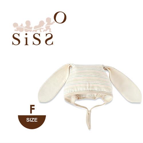 【SISSO有機棉】小兔花染兔兔帽 F