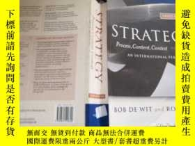 二手書博民逛書店Strategy:罕見Process Content Conte