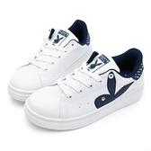 PLAYBOY 率性有型 後跟品牌字樣休閒鞋-白藍(Y5718)