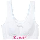 【Kanier卡妮兒】艾蜜莉的運動秘密學生型加大短胸衣(白_0806)