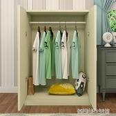 衣櫃實木2門兒童衣櫃3門板式推拉門衣櫃整體臥室移門大衣櫥組裝 YDL