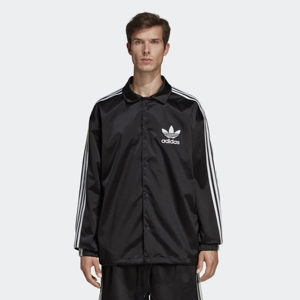 ISNEAKERS ADIDAS ORIGINALS COA CH JACKET 立領外套 休閒外套 黑色 男款DV1617