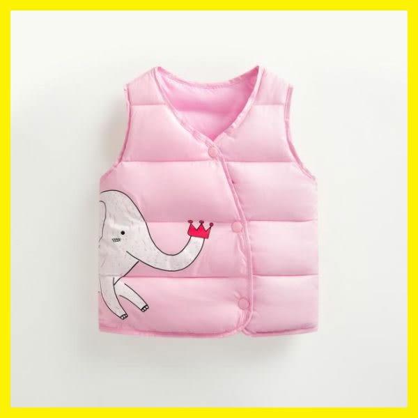 兒童馬夾嬰兒秋冬季加厚羽絨棉男女坎肩馬夾新生寶寶保暖背心外套
