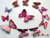 壁貼【橘果設計】3D立體磁性蝴蝶(粉色)DIY壁貼 牆貼 壁紙 壁貼 室內設計 裝潢 壁貼