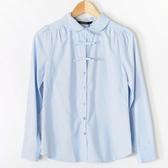 【MASTINA】蝴蝶結彼得潘領襯衫-淺藍 好康優惠