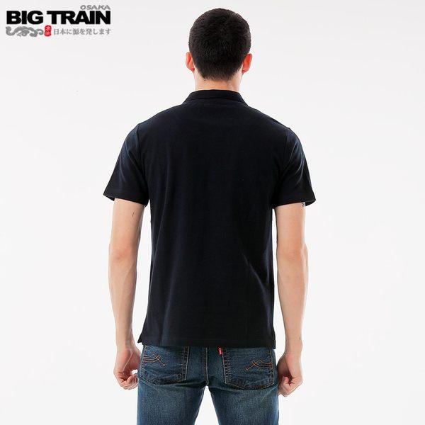 BigTrain火焰銀狼POLO衫-男-深藍/白