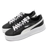 Puma 休閒鞋 Smash Platform Q4 Polka 黑 白 女鞋 運動鞋 【PUMP306】 36983303