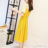 麻棉洋裝新款夏季流行超仙氣質裙子收腰顯瘦假兩件女士長裙 「安妮塔小鋪」