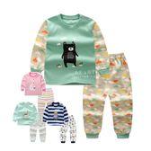 棉感印花長袖長褲居家睡衣套裝 兒童睡衣 睡褲