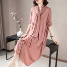 (現貨+預購 RN-girls)-精品優雅圍巾毛織長袖洋裝