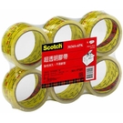 3M Scotch 超透明封箱膠帶 48mmX40yd(6入/包)