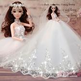換裝芭芘比娃娃套裝大禮盒婚紗公主女孩3D兒童衣服洋娃娃玩具生日禮物 【快速出貨】
