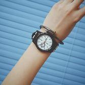 手錶正韓港風原宿復古大表盤潮流行時尚男女運動情侶學生手錶【全館免運】