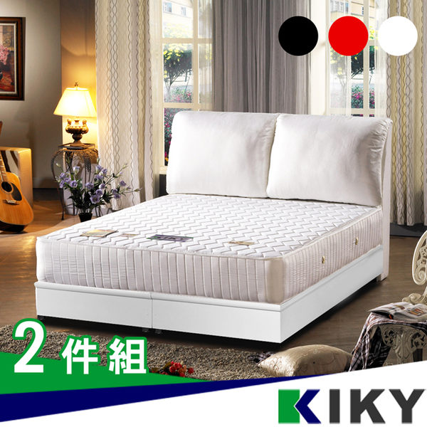 床組/雙人床架5尺-【完美情人】布質大靠枕(床頭片+床底)~台灣自有品牌-KIKY~Perfect Lover