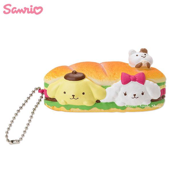 日本限定 三麗鷗 布丁狗  三明治麵包造型 趣味珠鏈吊飾