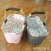 時尚家居 購物籃收納籃便攜可折疊購物籃野餐籃igo  歐韓流行館
