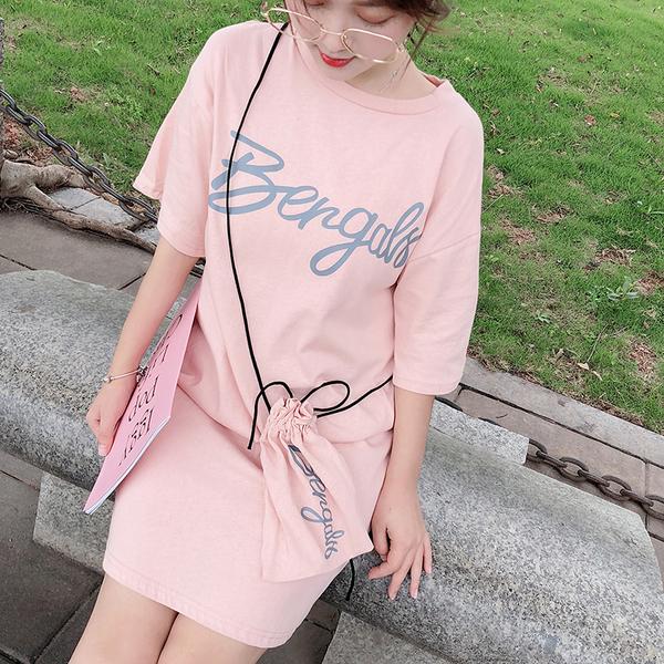 清倉288 韓系青春少女字母印花短袖上衣