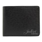 Louis Vuitton LV M64594 Slender Taiga皮革雙折短夾.黑 全新 現貨【茱麗葉精品】