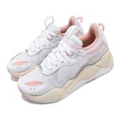 【六折特賣】Puma 老爹鞋 RS-X Tech 白 米白 粉紅 女鞋 厚底 網紅款 【ACS】 36932904