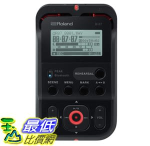 Roland High-Resolution Handheld Audio Recorder, black (R-07-BK) (R-05 的新款) 數位錄音機