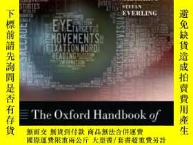 二手書博民逛書店Oxford罕見Handbook Of Eye Movement