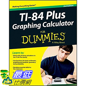 [105美國直購] 2016美國暢銷書 Ti-84 Plus Graphing Calculator For Dummies