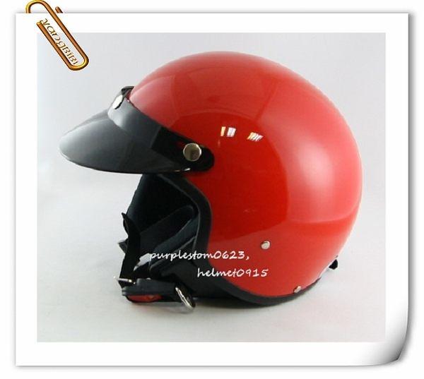 ZEUS 瑞獅安全帽,復古帽,小帽體,MOMO造型,103B,素/紅