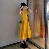 法式小眾背帶連衣裙子女姐妹裝寬鬆百搭長裙夏季【橘社小鎮】
