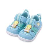 角落生物 魔鬼氈護趾涼鞋 藍 SGKT19086 中童鞋