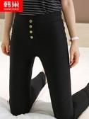 打底褲 內搭褲女褲外穿新款緊身夏百搭九分小腳春秋薄款高腰顯瘦黑色 星際小舖