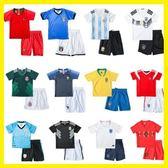 兒童足球服套裝男女童寶寶小學生世界杯球衣短袖比賽訓練服夏   初見居家