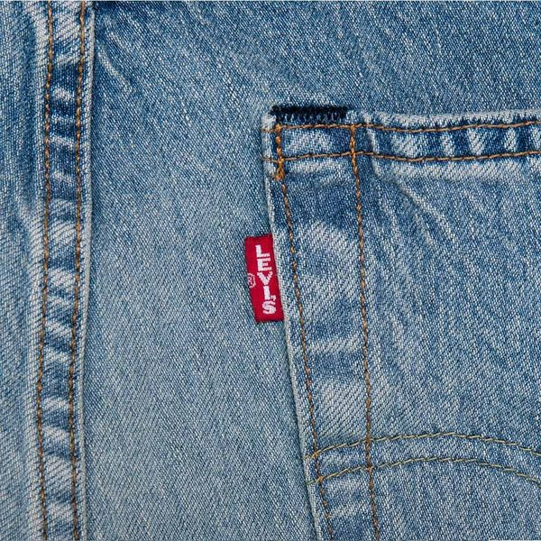Levis 上寬下窄 / 501 Taper 排扣牛仔長褲 / 淺藍水洗