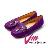 樂福鞋 懶人鞋 Velle Moven 輕時尚 羊麂皮 樂福鞋_氣質紫
