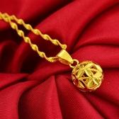 鍍金項鍊 24k不掉色沙金項鍊泰國光面轉運珠子越南金【快速出貨八折搶購】