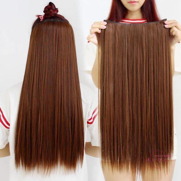 假髮片 仿真隱形五夾無痕加厚假髮片女梨花長髮接髮片大波浪卡子直髮片