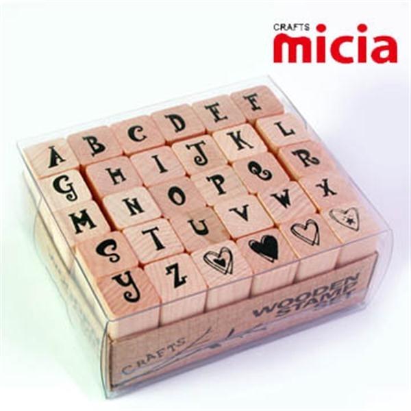 美日Micia/ALP19英文字母印章組(30入)