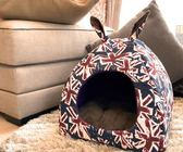網紅貓窩封閉式冬天保暖泰迪狗窩小型犬冬季可拆洗四季通用寵物窩 數碼人生