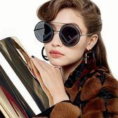 FENDI 墨鏡 經典LOGO 大圓框 太陽眼鏡 FF0285S 807MD 黑 久必大眼鏡