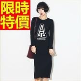 洋裝-長袖走秀款造型嚴選韓版連身裙61a99[巴黎精品]