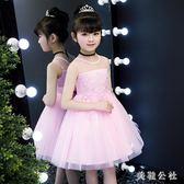 2019新款女童生日蓬蓬紗連衣裙小女孩洋氣禮服裙子 aj5258『美鞋公社』