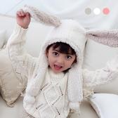 加厚保暖毛絨兔耳圍巾帽 帽子 童裝 童帽 保暖帽 兒童圍巾