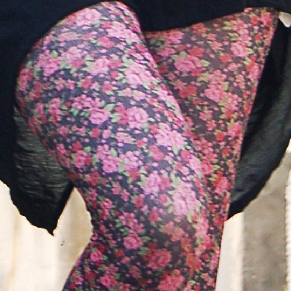 香川絲襪 台灣製 時尚流行花紋 褲襪【NO630-89】