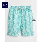 Gap男童 水果印花鬆緊腰泳褲 336759-綠色