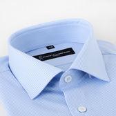 ROBERTA DI CAMERINO 諾貝達長袖藍底白條紋襯衫