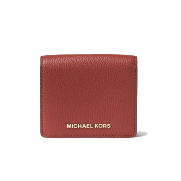 MICHAEL KORS Bedford 短夾 皮夾 卡片夾 信用卡夾 名片夾 磚紅色