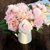 歐式高客廳臥室辦公桌裝飾擺件假花PLL4758【男人與流行】