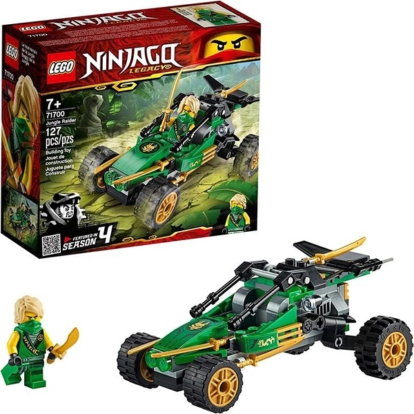 LEGO 樂高 NINJAGO Legacy Jungle Raider 71700 Toy Buggy Building Kit New 2020(127 Pieces)