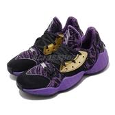 adidas 籃球鞋 Harden Vol. 4 J-Star War 黑 紫 女鞋 大童鞋 運動鞋 星際大戰 【ACS】 EF2080